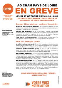 CNAM PAYS DE LA LOIRE - TRACT - GREVE